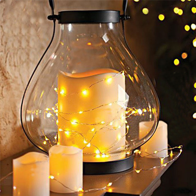 10M 100led Dimmable LED String Lights Copper Wire Complete Waterproof Rope Lights christmas outdoor decoration Wedding Party