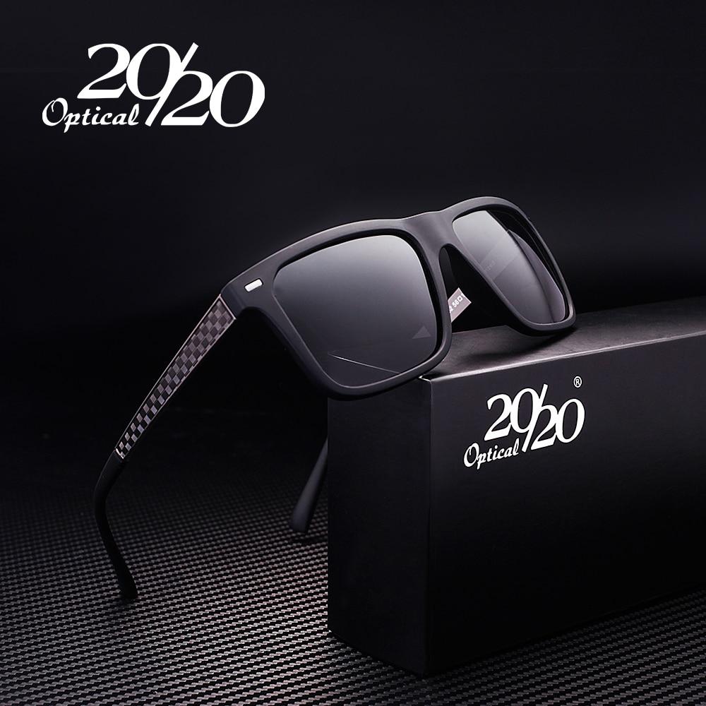 20/20 zīmols Retro vīriešu saulesbrilles metāla režģa rāmis vīriešu braukšanas polarizētie saulesbrilles vīriešiem Oculos Masculino PL279