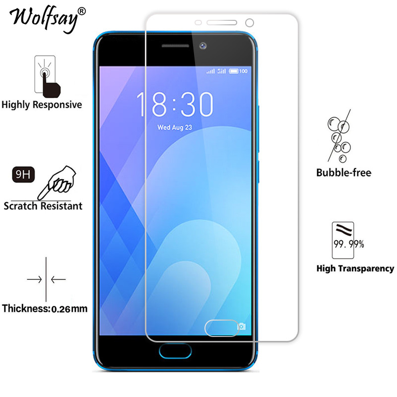 2PCS Glass For Meizu M6 Screen Protector Tempered Glass For Meizu M6 Glass For Meizu Meilan 6 M711H Protective Film 5.2 Inch