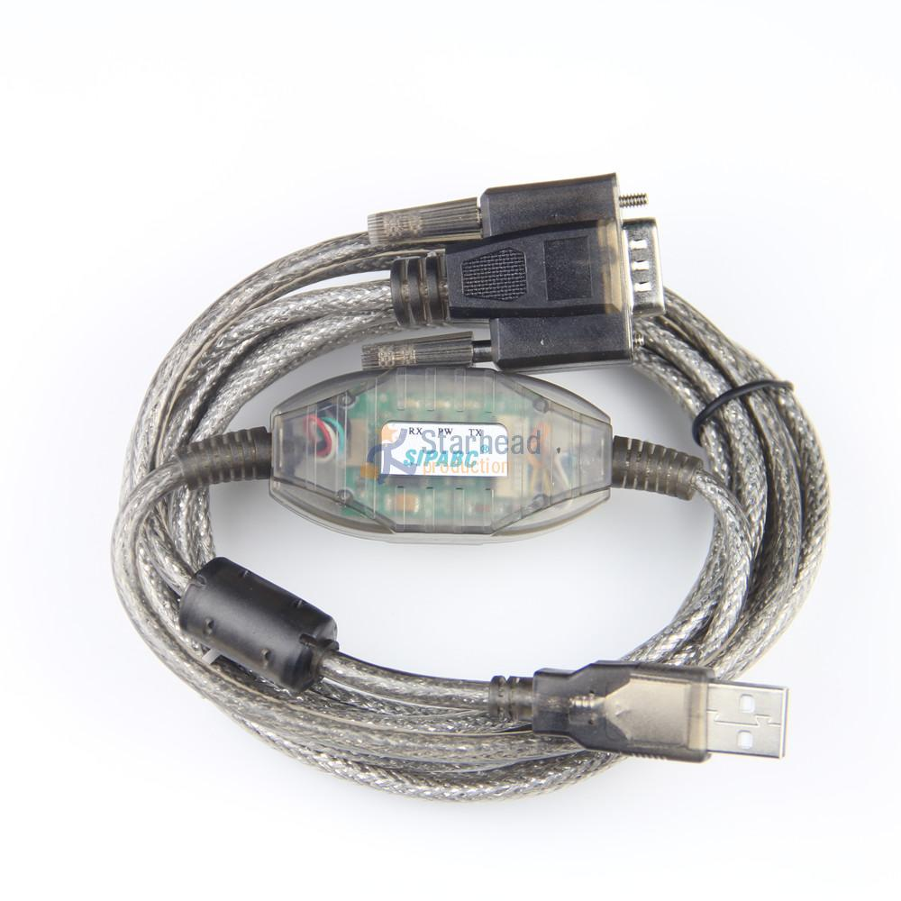 New Smart Usb-xw2z-200s Usb-xw2z-200s-cv Programming Cable For Omron Plc Hmi Rs232 Db9 Support Win7 db9f Usb To Rs232