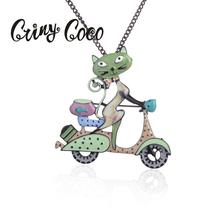 Cring Coco Cat Pendant Necklace Classic Design Famous Brand Woman Necklaces for Luxury Collares Jewelry Gift Top Quality