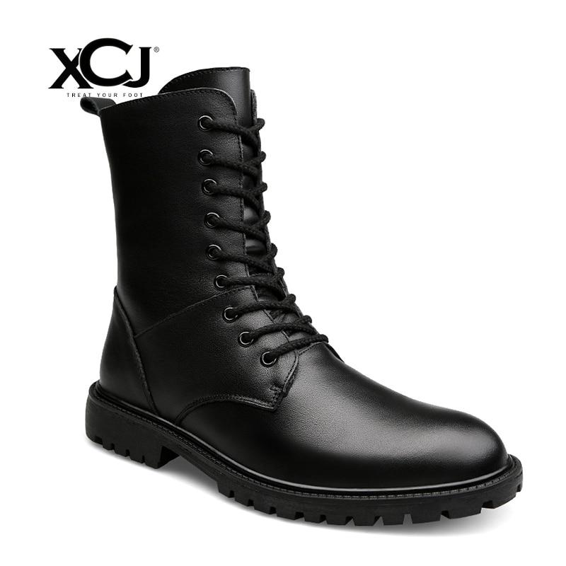 Split Leather Men Shoes Brand Winter Boots For Men Winter Shoes Casual Shoes Warm Plush Flats Spring Autumn Plus Big Size XCJ mulinsen latest lifestyle 2017 autumn winter men
