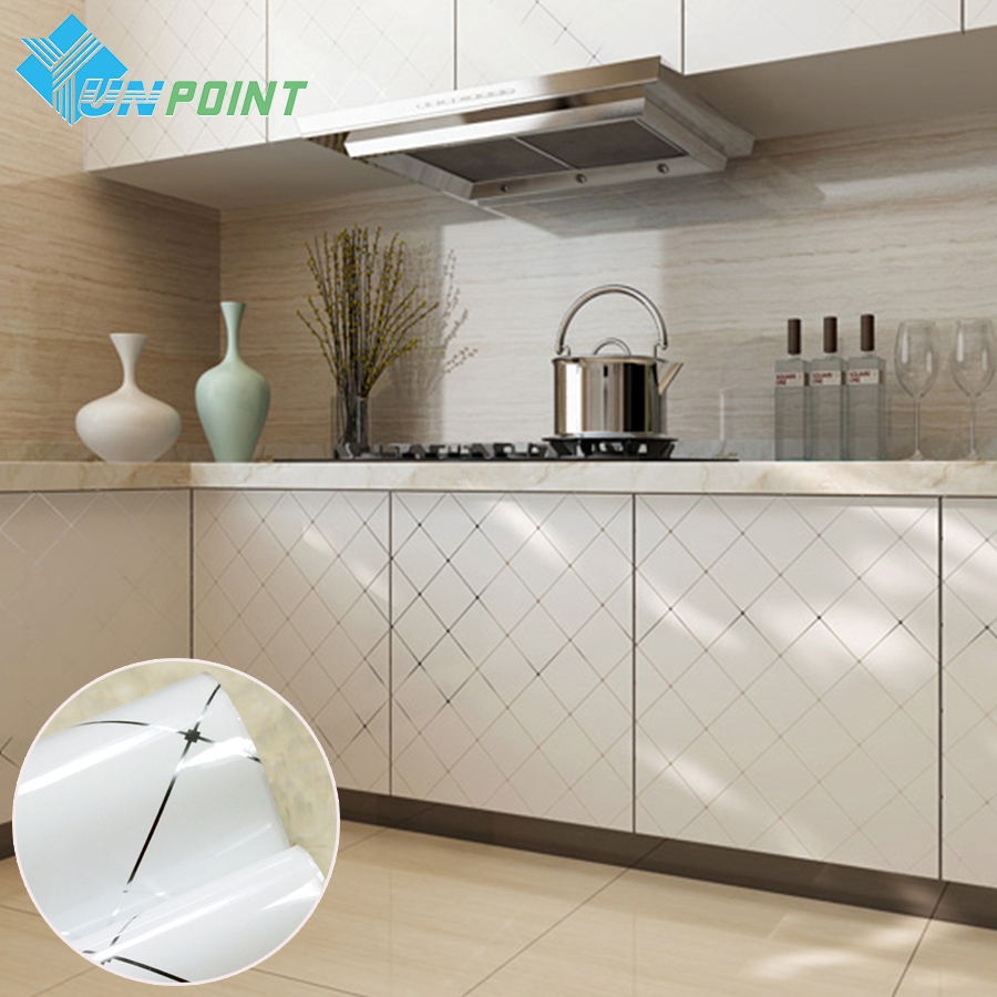 White Lattice Home Decor DIY Autocolant Wallpaper Roll Decorative Films Linii de Argint Papetărie de perete din PVC Vinyl Sticker Waterproof