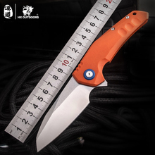 HX OUTDOORS AUS-8 Mad Lolita Folding Blade Knife Ball Bearing Flipper G10 Handle Camping Outdoor Knives Survival EDC Knife Tools