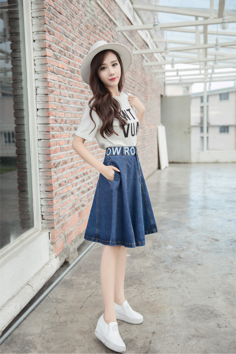 Compare Prices on Denim Skirt Midi A Line High Waisted- Online ...