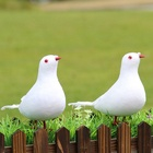 Simulation Peace Pigeon For Wedding For Mall Home Gardening Decoration Pigeon Suit(Two White Pigeons,One Nest)