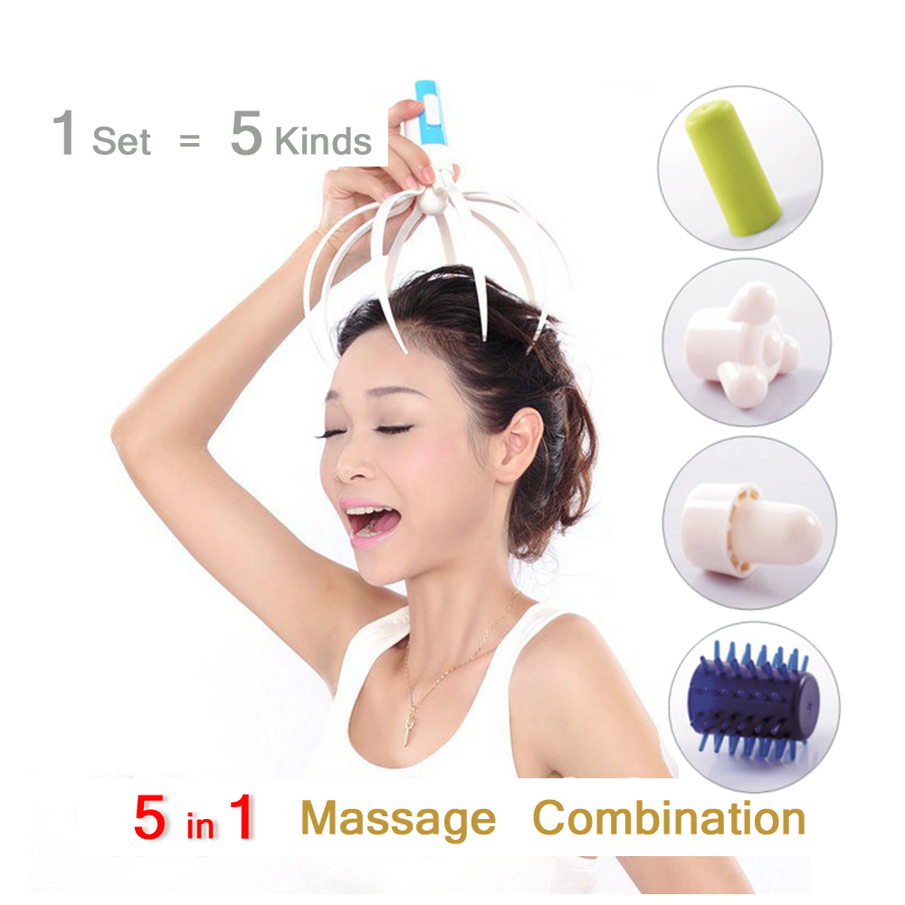 5 In 1 Electric Head Massager Brain Massage Relax Octopus Equipment Stress Release Easy Acupuncture Points Health Care C735