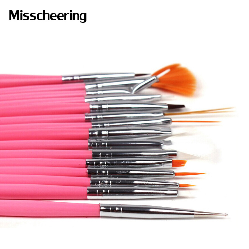 15pcs professional uv gel acrylic nail art brush set nail for Avon nail decoration brush