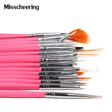 15pcs Professional UV Gel Acrylic Nail Art Brush Set Nail Design Polish Painting Drawing Pen Perfect