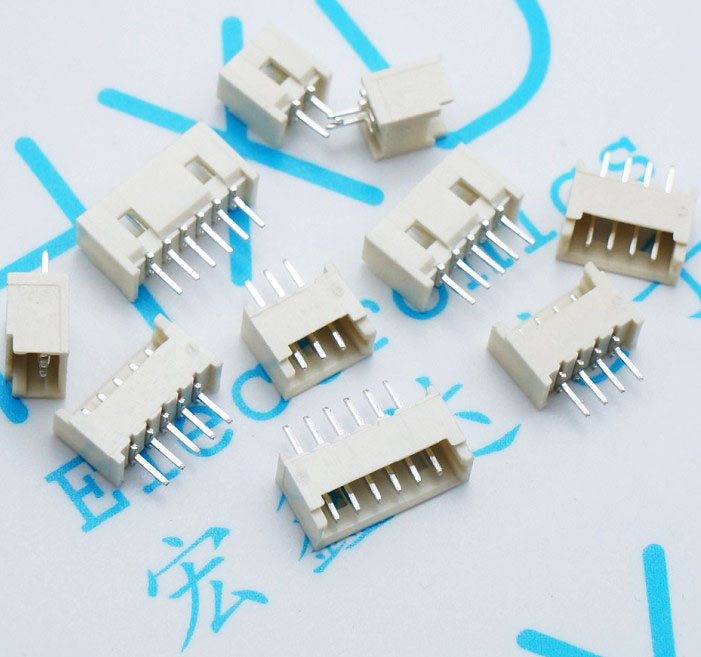 50pcs1.25 pitch straight pin header 1.25MM 2P-8P 2P4P6P8P wire to board connector