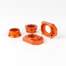 CNC Rear Chain Adjuster Axle Block And Rear Axle Wheel Hub Spacers For  SX SX-F XC XC-F 125 250 350 450 530 Motorcycle цена