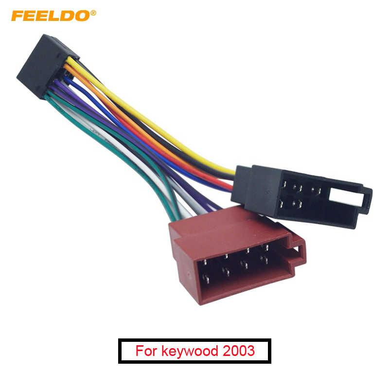 speaker wiring harness adapter feeldo car stereo radio 16 pin pi100 iso wiring harness adapter  16 pin pi100 iso wiring harness adapter