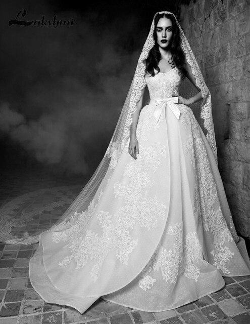 Elegant Spaghetti Straps Over Skirts Wedding Dresses With Liques 2017 Zuhair Murad Detachable Bridal Gowns Hochzeitskleid