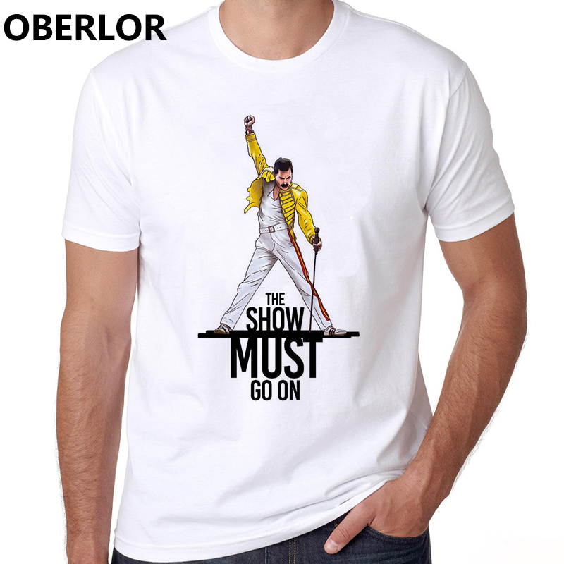 Band Of The Queen Aesthetic Clothes Men Freddie Mercury Camiseta Masculina Harajuku Streetwear White T Shirt Men Xxxtentacion