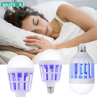 Efficient LED Bug Zapper Light Bulb Cleaning Mosquito Killer EU US 9W 15W Insect Trap Lamp Home Backyard E27 led Bulb Outdoor