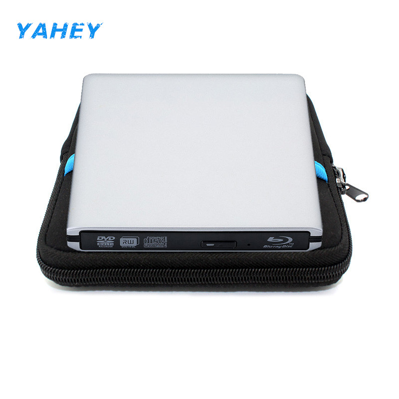 USB 3.0 Bluray External Optical Drive 3D Player BD-RE Burner Recorder DVD+/-RW DVD-RAM for Computer +Drive Sleeve Case Pouch Bag bluray drive bd rom external bd rw dvd rw burner slot load cd dvd bd rom play 3d movie writer for apple laptop computer
