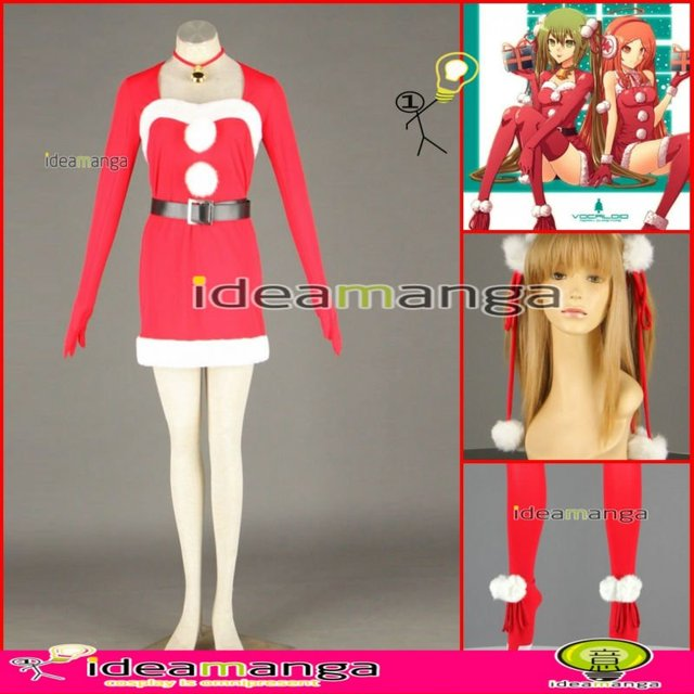 [ideamanga]Manga Amime V+ VOCALOID Hatsune Miku Christmas gift woman's Cosplay Costume Female halloween party dress Any Size