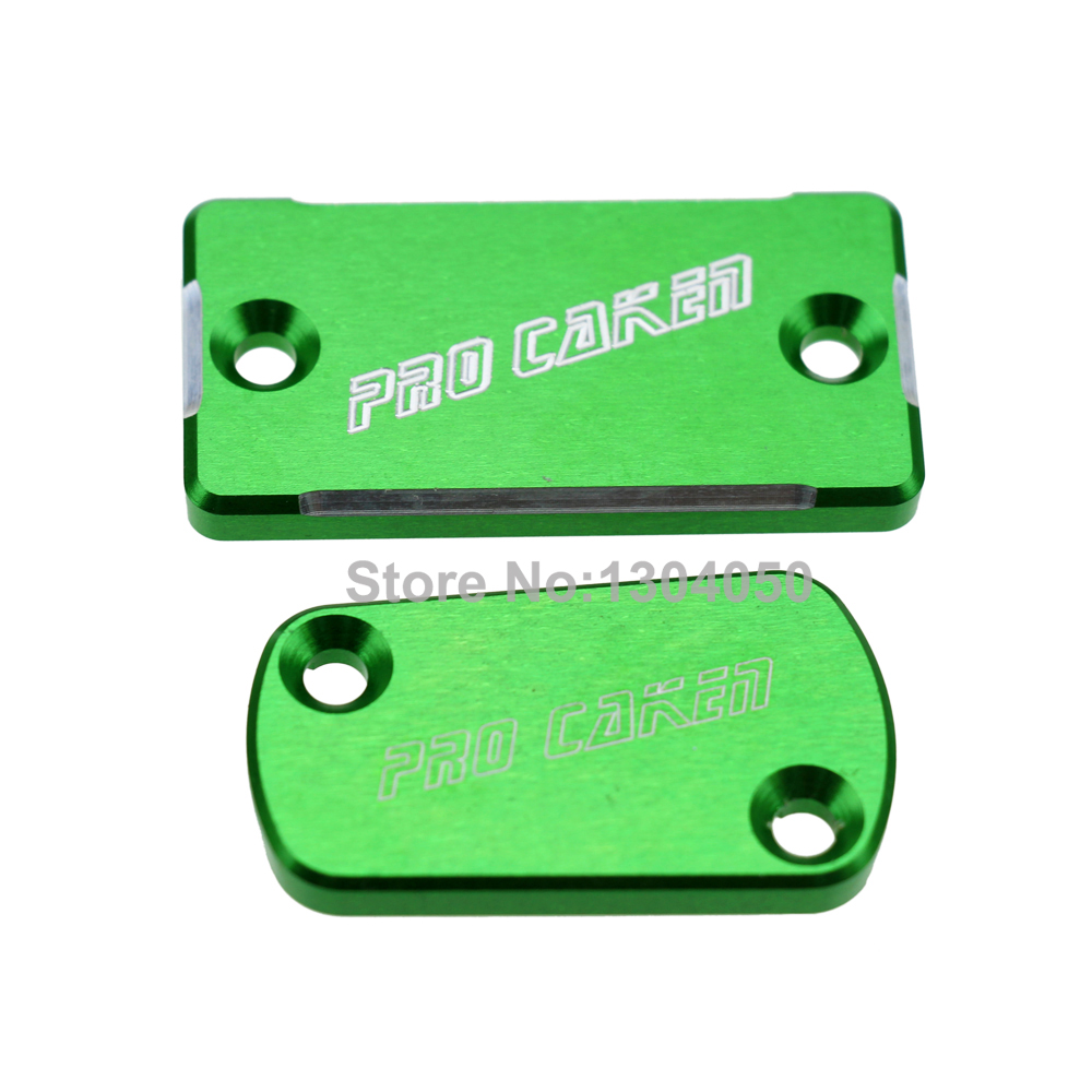 CNC Front & Rear Brake Reservoir Fluid Cover KAWASAKI KX250F KX125 KX250 KX450F KLX450R Motorcycle MX Enduro Motocross Dirt Bike