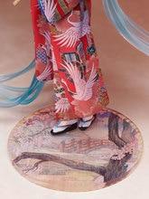 Novedad novedad 23 cm Hatsune Miku kimono figura de acción juguetes colección de muñecas regalo de Navidad con caja