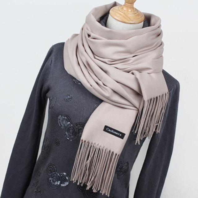12cabc3fcba7c Hot sale Scarf Pashmina Cashmere Scarf Wrap Shawl Winter Scarf Women's  Scarves Tassel Long Blanket Cachecol High Quality YR001