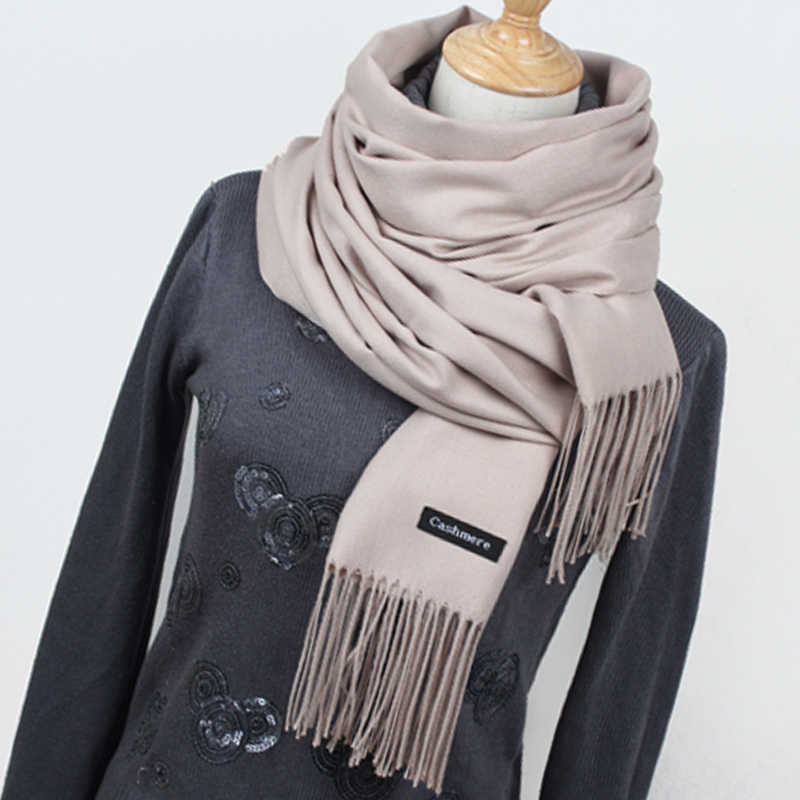 Venta caliente bufanda cachemir Pashmina bufanda chal bufanda de invierno de las mujeres bufandas borla larga manta Cachecol de alta calidad YR001