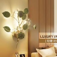 Светодиодный светильник настенный Творческий Кристалл Спальня ночной бра прохода лестницы лампа ресторане отеля кафе лампы зеркало спере