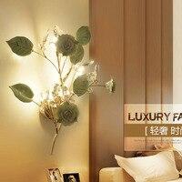 นำโคมไฟติดผนังสร้างสรรค์คริสตัลข้างเตียงนอนSconcesทางเดินบันไดโคมไฟโรงแรมร้านอาหารบาร์คาเฟ...
