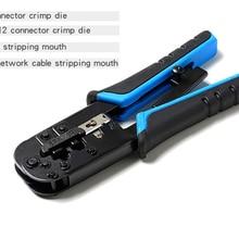 RJ45 crimper Tool RJ11 cat5e cat6 cable crimping tool network pliers tool 8P/6P multi-function cable pliers, peeling shear