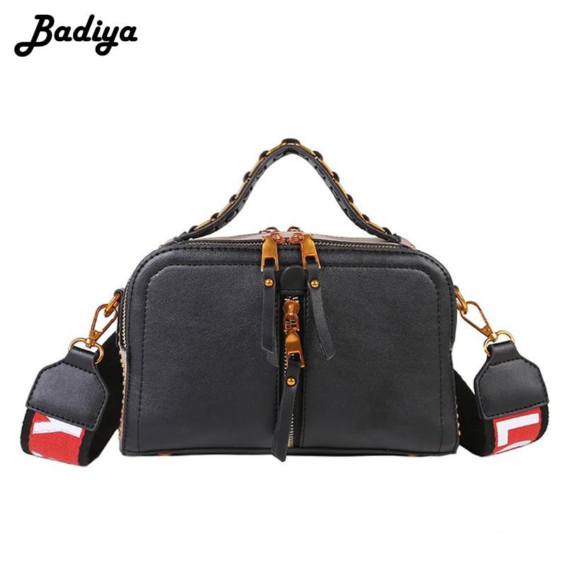 New Fashion Women Wide Strap Shoulder Bag Large Capacity Pu Leather Handbags Casual Travel Crossbody Bag Female Bolsas
