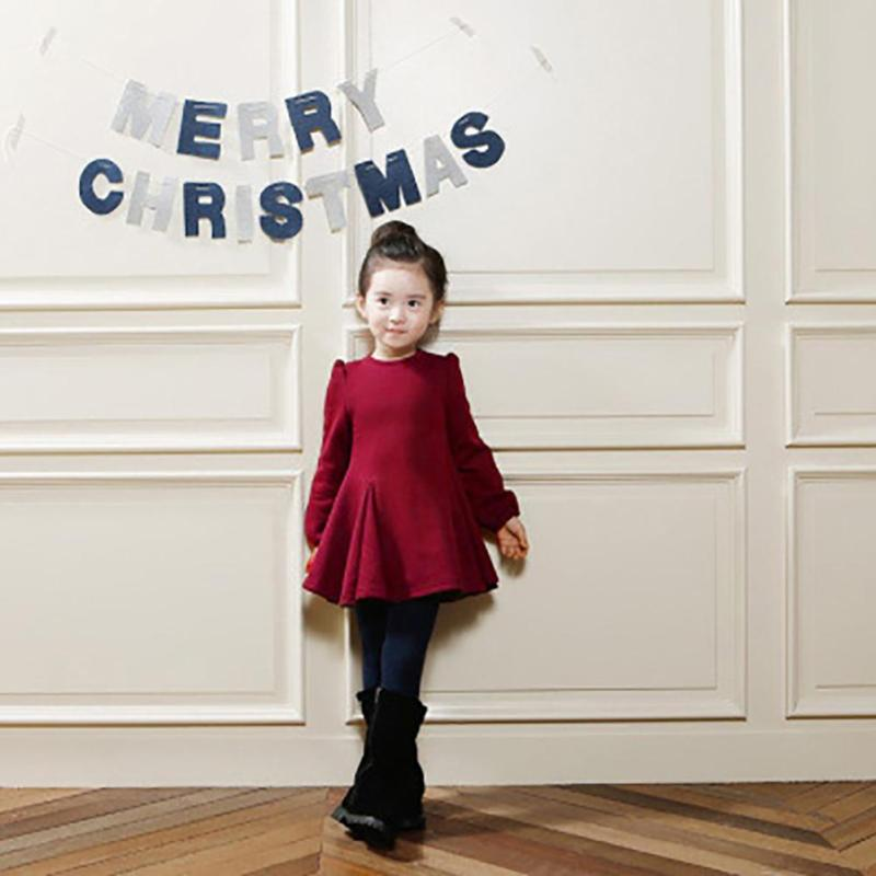 Winter Girls Full Sleeve Dresses Solid Kids Baby Cotton padded Jackets Children girl Warm Thick Long Outwears Coats Gift 5 messic cotton long sleeve winter dresses