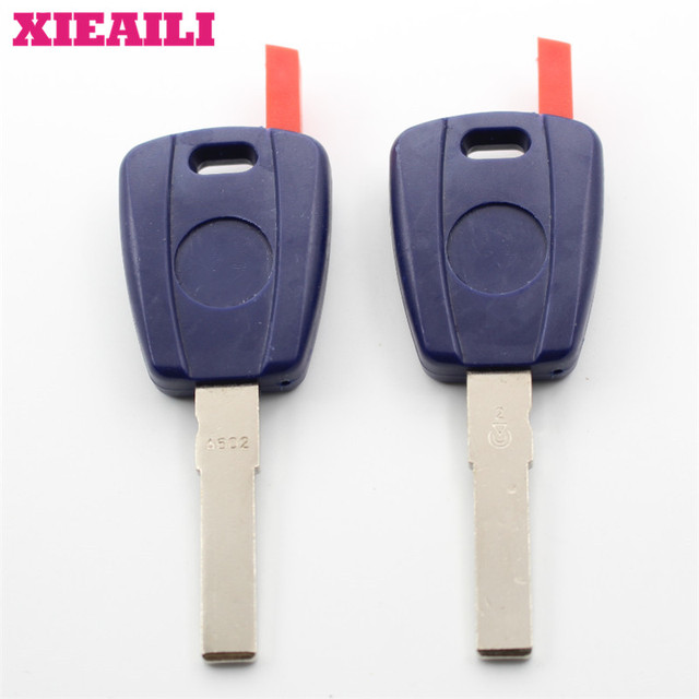 XIEAILI 10Pcs Transponder Key Case Shell For Fiat SIP22 Blade Can Install Chip S158