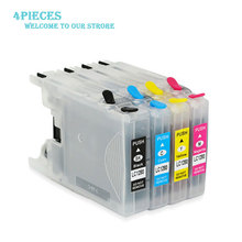 цена на LuoCai For brother LC12/17/40/71/73/75/77/79 Refillable Compatible Ink Catridges MFC-J6510DW J6710 J6910DW J6710DW Ink Printers