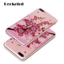 Luxury For Apple iphne 7 Case Glitter Flower Multicolour Back Cover For iphone 7 Plus Case Soft PC Personality Phone Cases