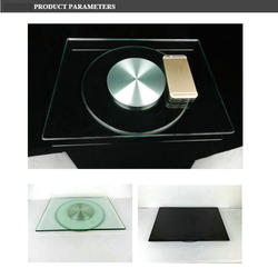 HQ Tempered Glass TV Turntable Swivel Plate 360 Degree Television Reel   TV/Laptop Turner Board Rotating Base Stand