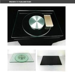 Placa de disco giratorio de TV de vidrio templado HQ, soporte de Base giratoria para TV/ordenador portátil con carrete de televisión de 360 grados