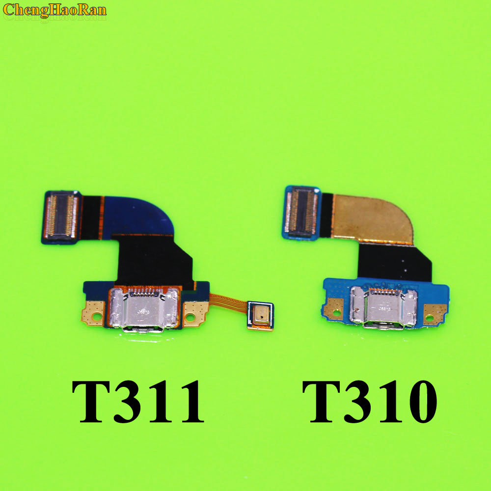 ChengHaoRan 1x Best price USB Charge Charging Board MIC Microphone PCB Flex Cable For Samsung Galaxy Tab 3 8.0 SM T310 T311 image
