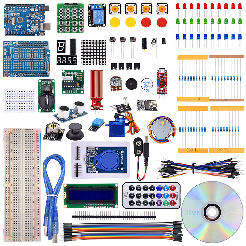 The Most Complete Rfid Starter Kit for Arduino UNO R3 Upgraded Version Learning Suite With Tutorial and Gift ESP8266 Wifi module deluxe uno r3 basic kit starter learning kit for arduino training kit digital control module