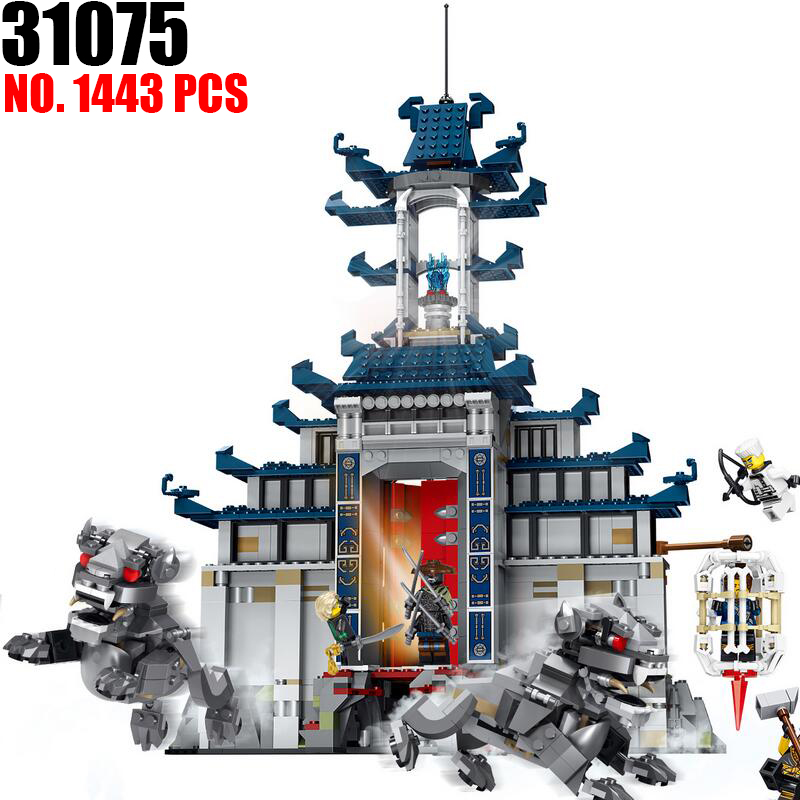 New 31075 Ninja series The Temple of The Ultimate Ultimate Weapon Model Building Blocks set Compatible 70617 Toys for children new lp2k series contactor lp2k06015 lp2k06015md lp2 k06015md 220v dc