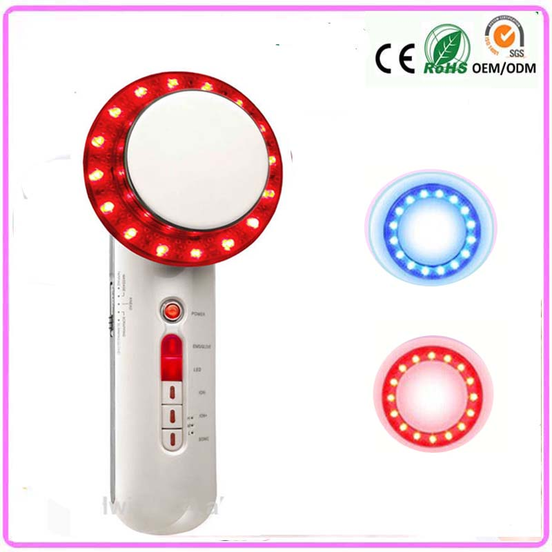 6 In 1 Anti-Cellulite Wrinkle Removal EMS Red Blue Led Light Photon Therapy Full Body Ultrasonic Galvanic Slimming Massager пак ц pack cellulite