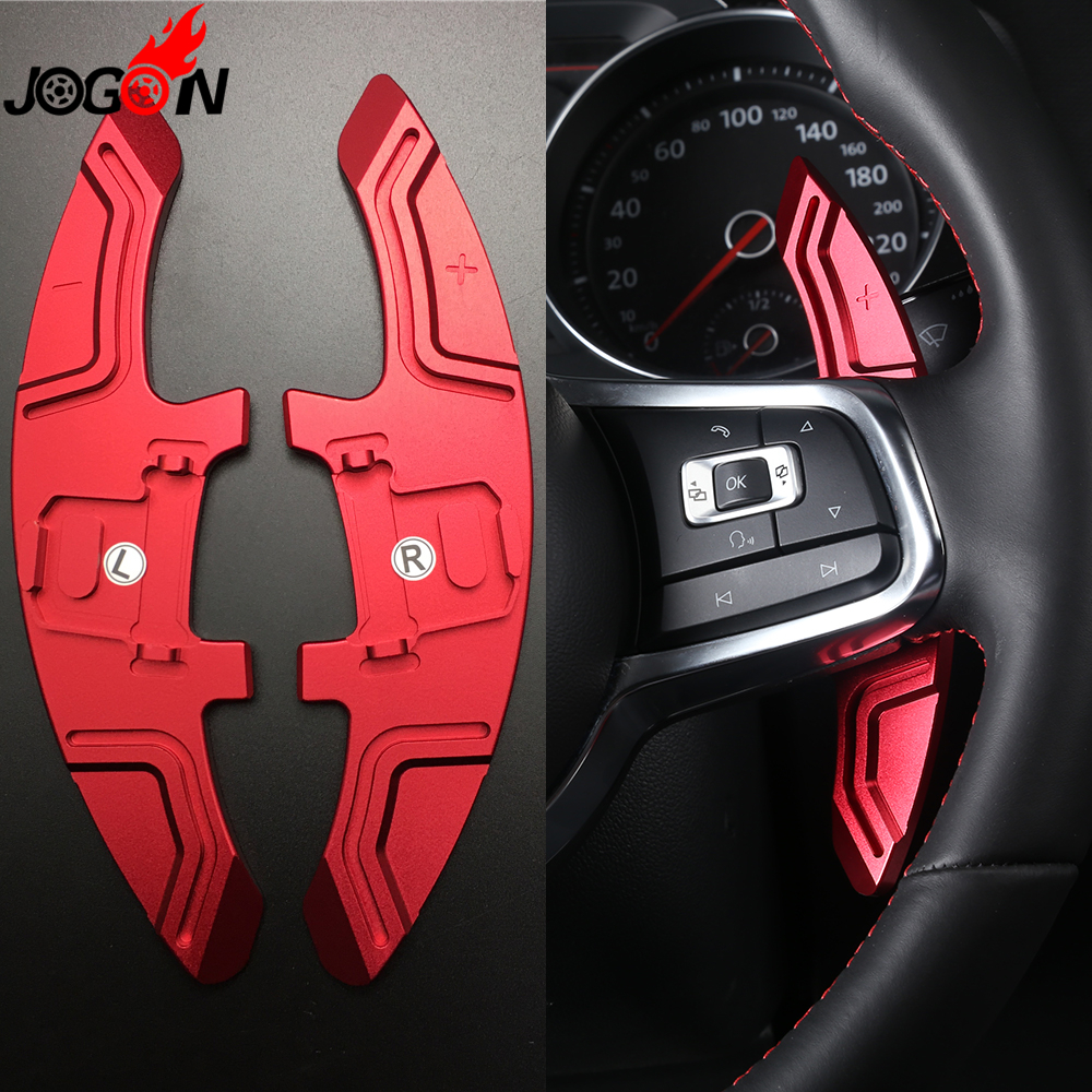 Metal Steering Wheel Paddle Extension Shifter Replacement For VW GOLF GTI R GTD GTE MK7 7 MK7.5 2013  17 Scirocco 2015 2016 2017-in Steering Wheels & Steering Wheel Hubs from Automobiles & Motorcycles    3
