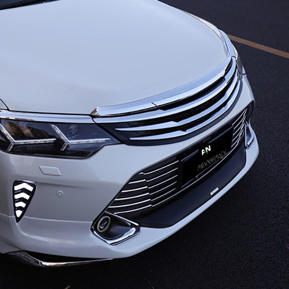 AITWATT pour Toyota Camry 2015 2016 2017 extérieur ABS Chrome Grille modifier Grilles avant brillant Center maille Grilles Auto partie