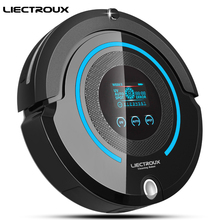 LIECTROUX A338 Multifunction Automatic Vacuum Cleaner(Sweep,Suction,Mop,Sterilize),LCD,Schedule,2-way VirtualBlocker,AutoCharge