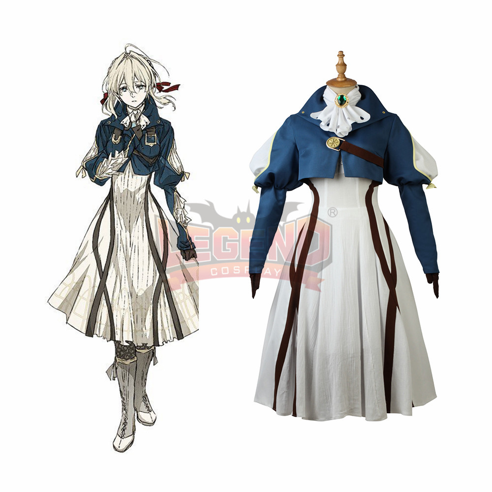 Anime Violet Evergarden cosplay costume dress outfit adult girl female costume custom size custom made