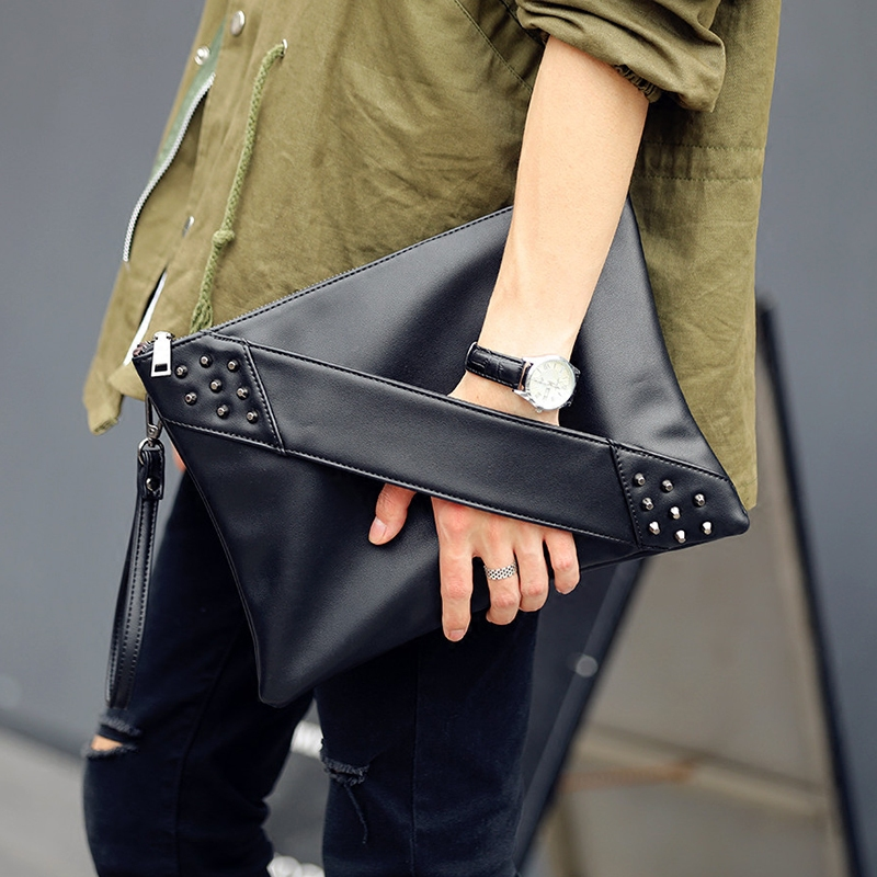 2019 Fashion Rivets Handbags Designer PU Leather Clutch Handbag Envelope Shoulder Bags Crossbody Bags Free Shipping