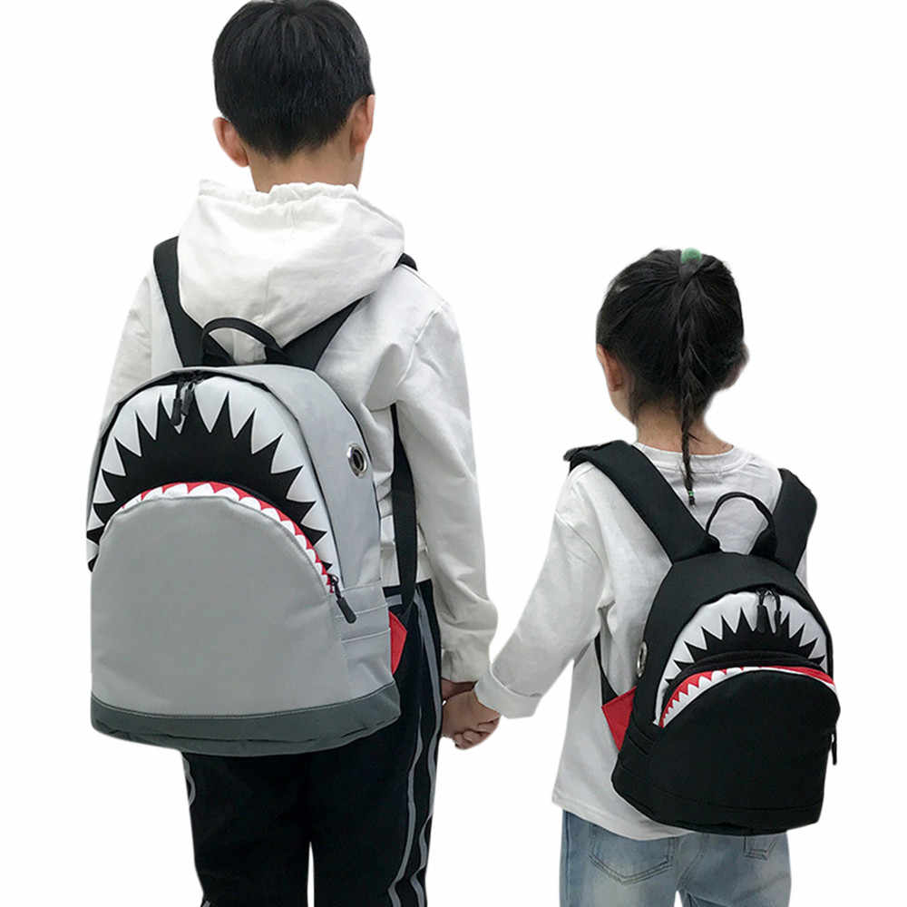 Kids 3D Model Shark School Bags Nylon Children Backpacks Kindergarten Kids School Bags  Toddler Cute Rucksack #20