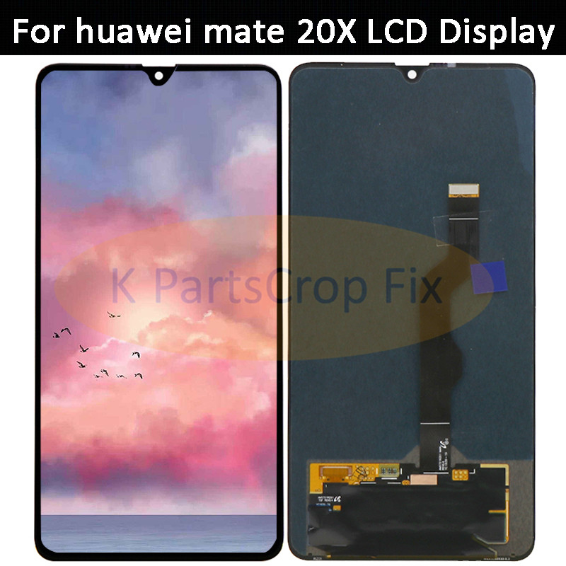Original For 7 2 Huawei Mate 20 X AMOLED LCD Screen Display Touch Panel Digitizer For