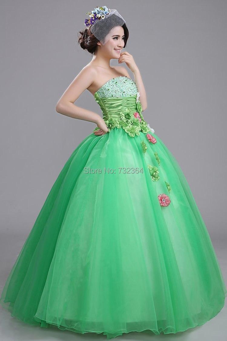 e69c5ad0b5c40 green floral medieval dress princess cosplay Medieval Renaissance ...