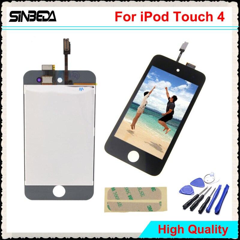 Sinbeda Haute Qualité LCD Écran Pour iPod Touch 4 4G Écran lcd + Écran Tactile Digitizer Assemblée Remplacement Pour iPod Touch 4 4G