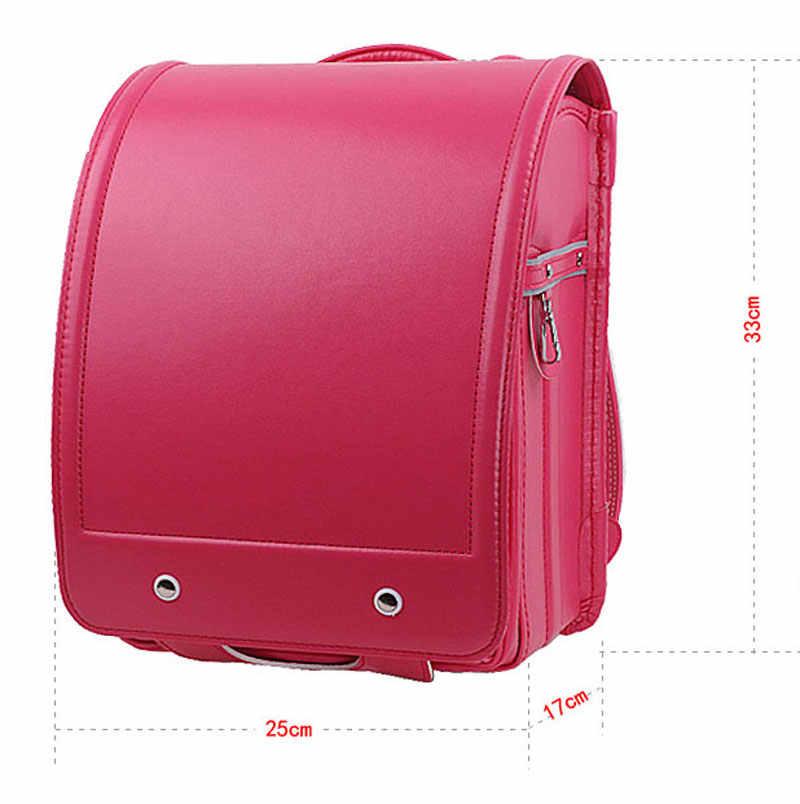 Черный Детский рюкзак, детская школьная сумка, ортопедическая, рандосеру, Детская сумка для школы, японские сумки для книг, Детские рюкзаки из искусственной кожи