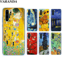 Van Gogh starry night Silicone Soft Case For Huawei P30 P30 Pro P10 P20